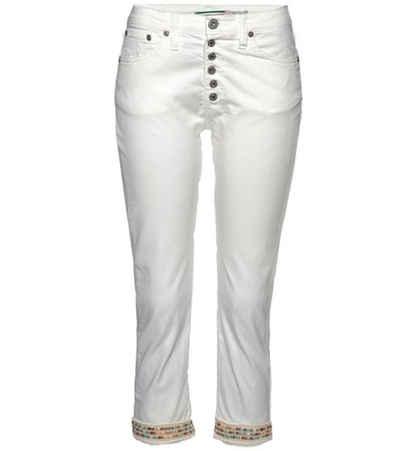 PLEASE Stoffhose »PLEASE Jeans P36H stylische Damen 7/8-Hose Freizeit-Hose im Five-Pocket-Style Weiß«