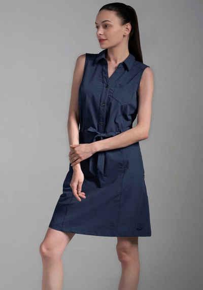 Polarino Blusenkleid mit Knopfleiste und Bindegürtel