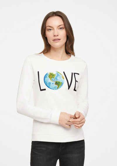 comma casual identity Sweatshirt »Sweater mit Statement-Print« (1-tlg)