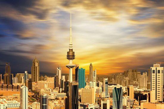 queence Acrylglasbild »Skyline«