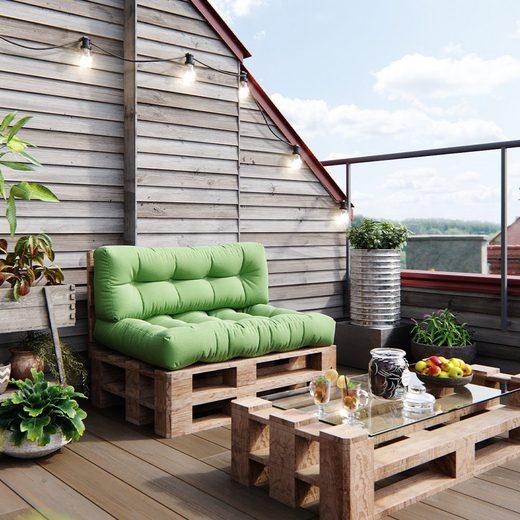 Vicco Palettenkissen »Palettenkissen-Set Sitzkissen Rückenkissen 15cm hoch Palettenmöbel Flocke grün«