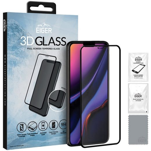 EIGER Schutzfolie »3D GLASS, iPhone 11, iPhone XR«