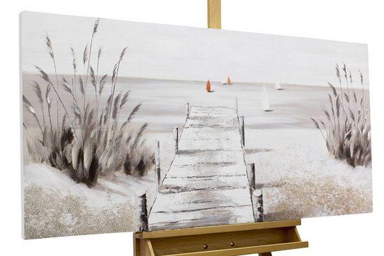 KUNSTLOFT Gemälde »Careless Beach Day«, handgemaltes Bild auf Leinwand