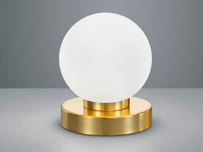 TRIO LED Tischleuchte, kleine Kugel Tisch-Lampe Glas-Lampenschirm mit Touch Dimmer für Wohnzimmer, Fensterbank, Schlafzimmer