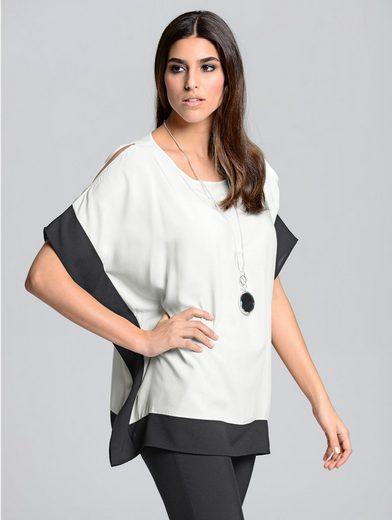 Alba Moda Blusenshirt in kontrastfarbiger Optik