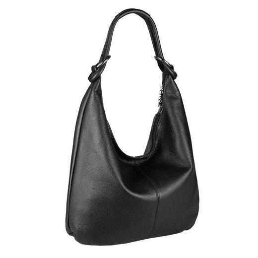 ITALYSHOP24 Schultertasche »Made in Italy Damen XXL Leder Shopper«, als Handtasche, Henkeltasche, Schultertasche tragbar