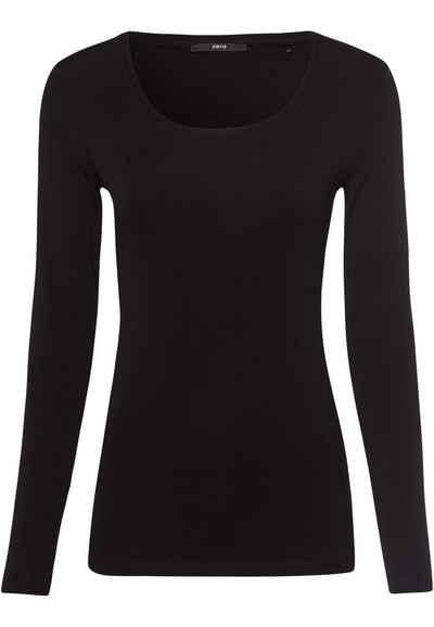 Zero T-Shirt »mit Rundhalsauschnitt« Plain/ohne Details