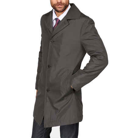 Class International Wintermantel »CLASS INTERNATIONAL Kurz-Mantel stylische Herren Übergangs-Jacke Wind-Mantel im glänzenden Look Schwarz«