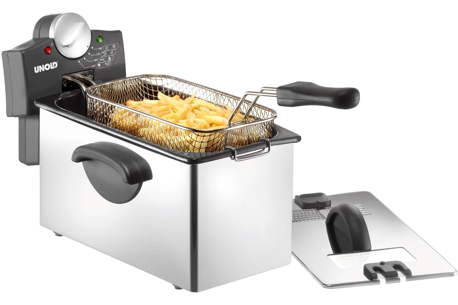 UNOLD® Kaltzonen-Fritteuse 58746, 3 Liter, 2200 Watt