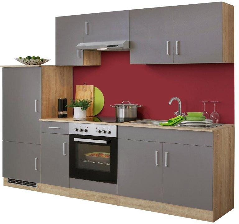 HELD MÖBEL Küchenzeile mit E-Geräten »Melbourne«, Breite 260 cm mit ...