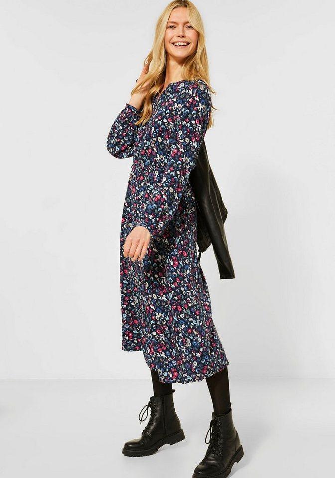 cecil -  Blusenkleid mit Blumen-Print
