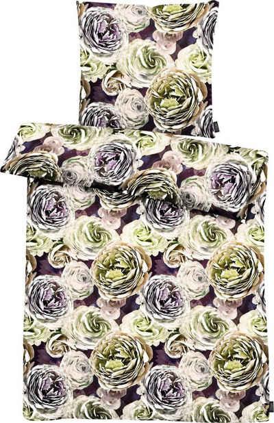Bettwäsche »Beatrice«, APELT, exklusives großformatiges Blumendesign