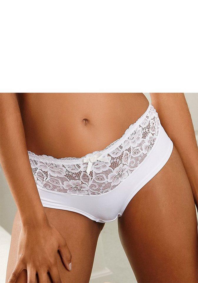 Nuance Panty mit schöner Spitze am Bund in weiß