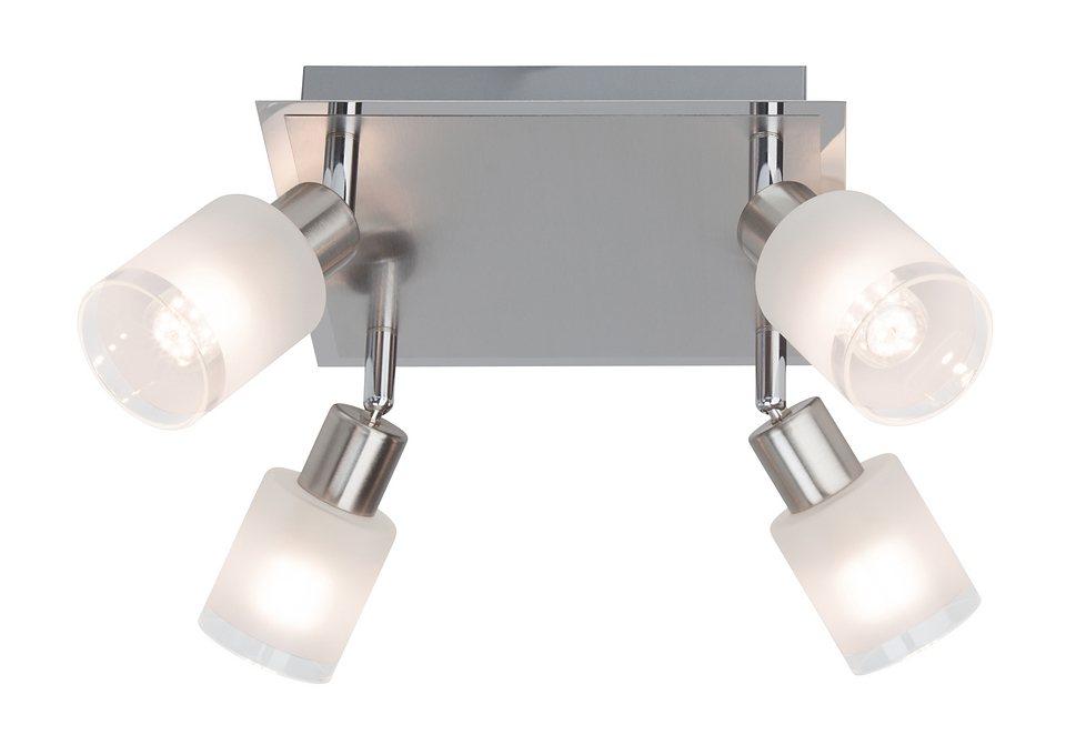 LED-Deckenleuchte (4-flg.), Brilliant Leuchten in silberfarben