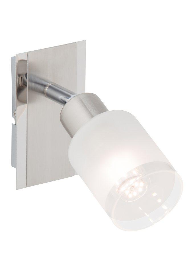 LED-Wandleuchte (1-flg.), Brilliant Leuchten in silberfarben