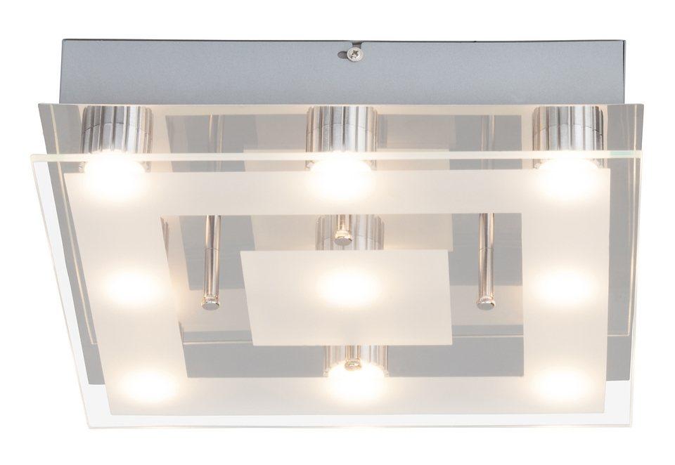 LED-Deckenlampe, Brilliant Leuchten in weiß