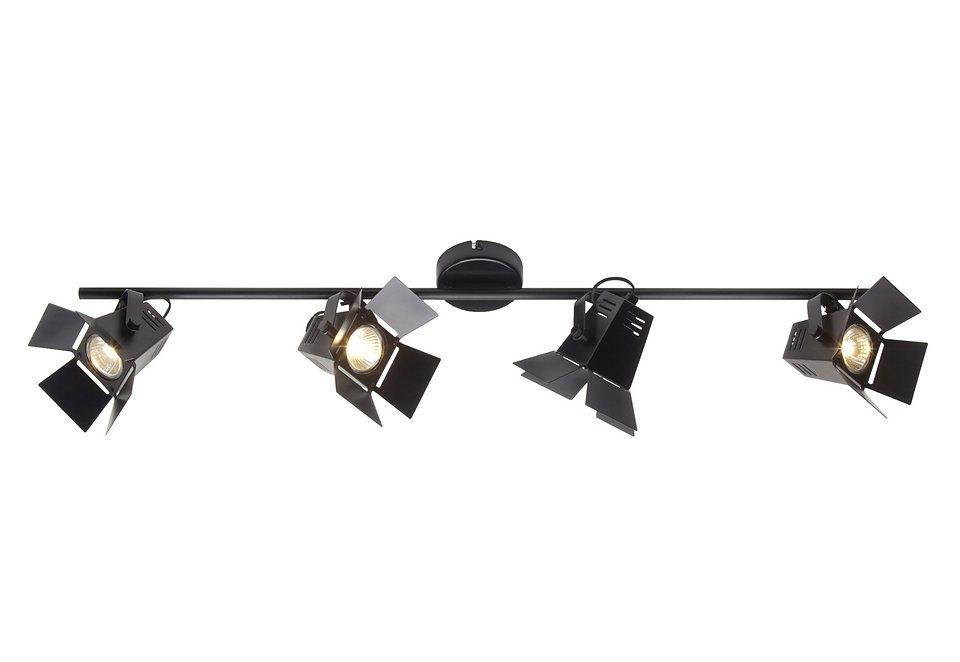 Halogen-Deckenleuchte (4-flg.), Brilliant Leuchten in schwarz
