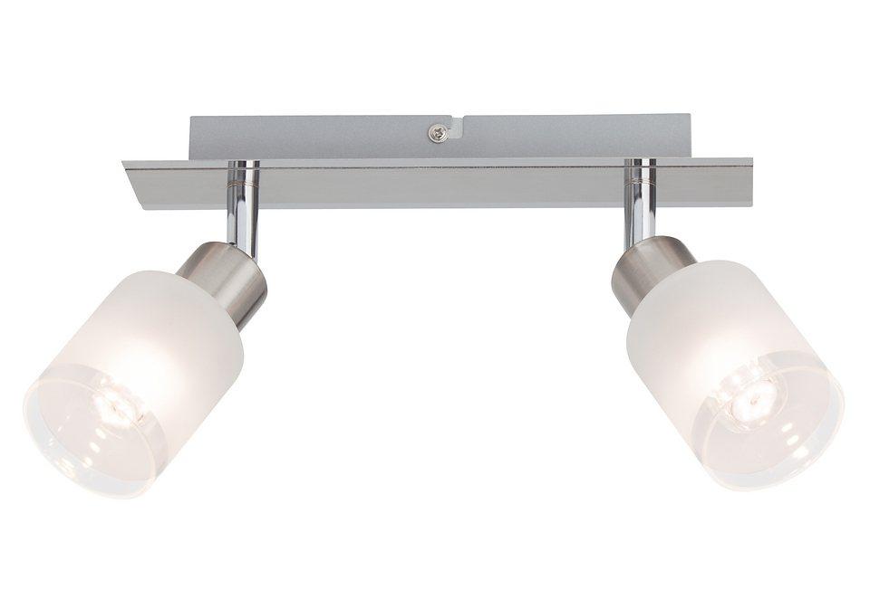 LED-Deckenleuchte (2-flg.), Brilliant Leuchten in silberfarben