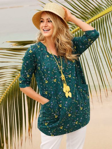 MIAMODA Longshirt mit floralem Druck