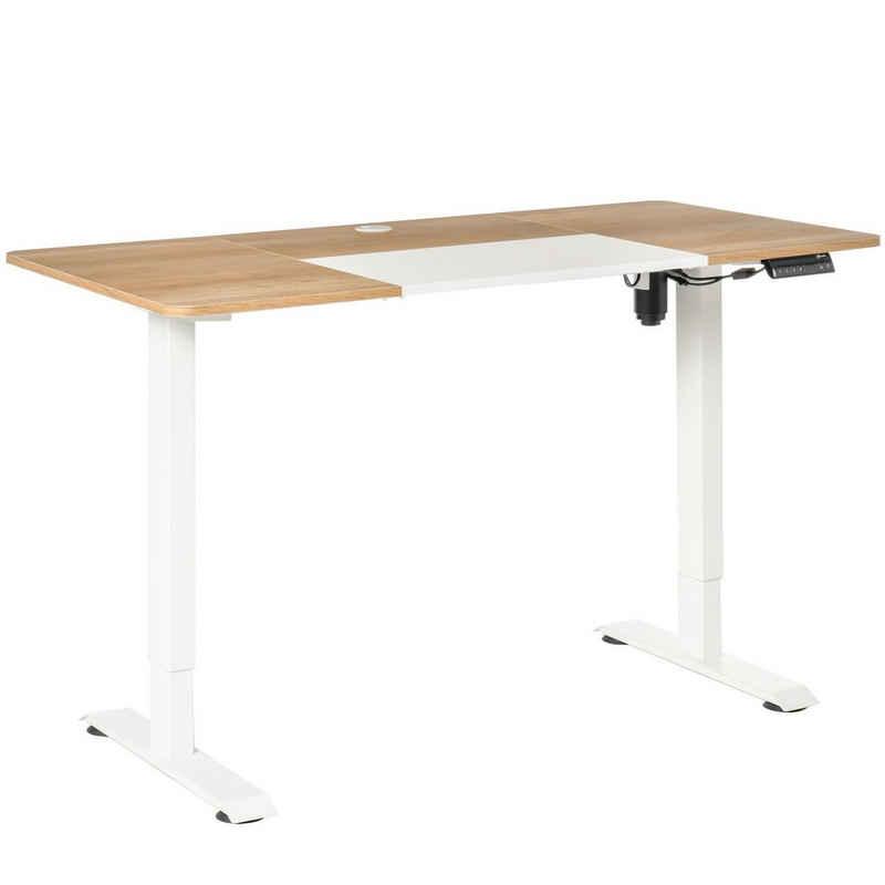 Vinsetto Schreibtisch »PC-Tisch elektrisch höhenverstellbar, LED-Anzeige«