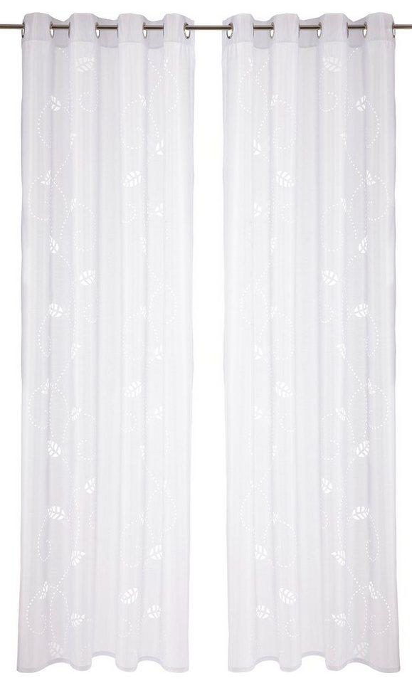 Vorhang, my home, »Jalta« (2 Stück) in weiß