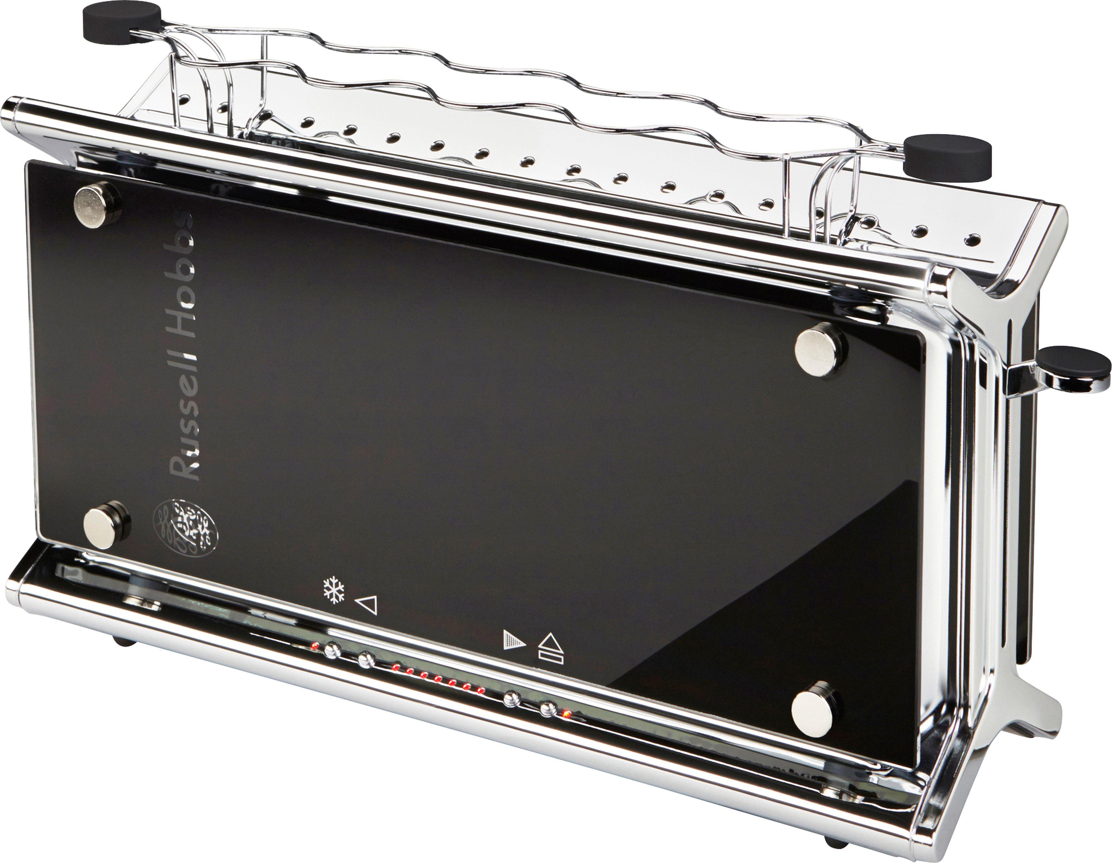 Russell Hobbs Langschlitz-Toaster »Black Glass« 20370-56, 1080 Watt, Edelstahl/Glas