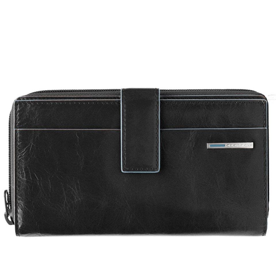 Piquadro Blue Square Geldbörse Leder 17 cm in schwarz
