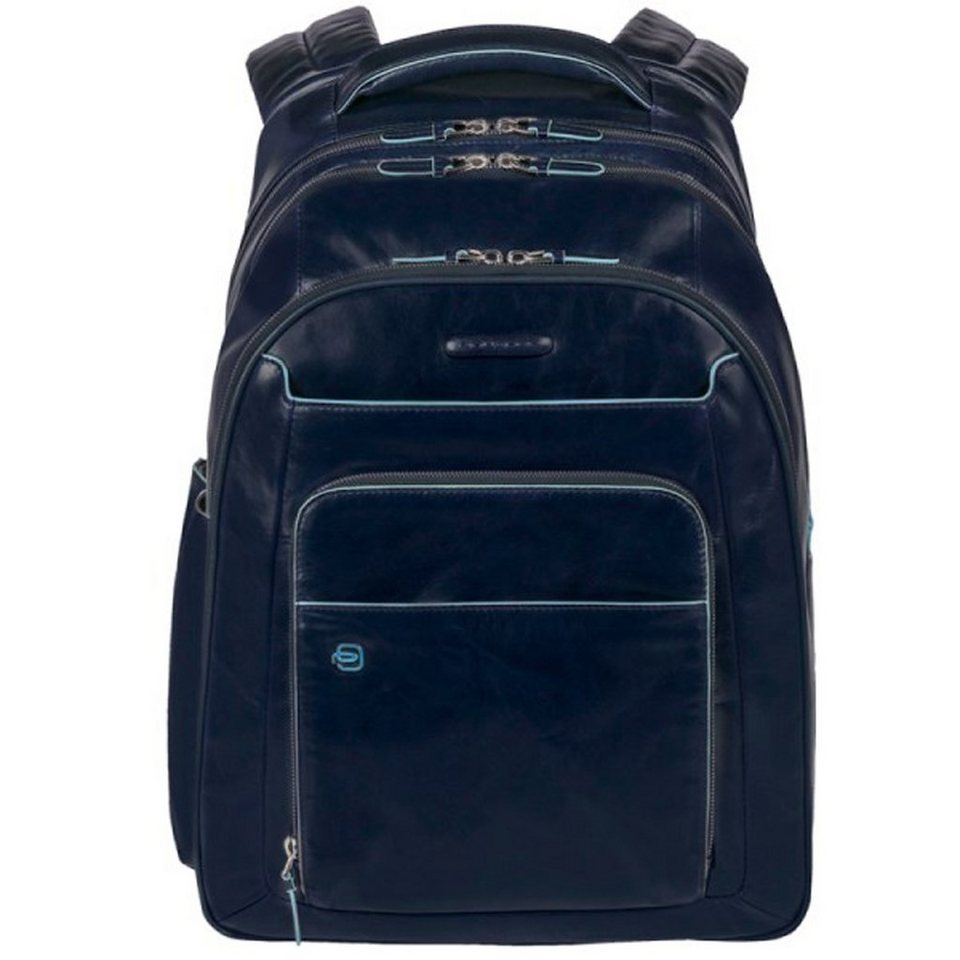 Piquadro Blue Square Business Rucksack Leder 31 cm Laptopfach in nachtblau