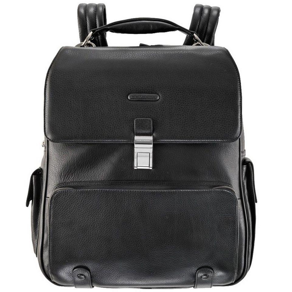 Piquadro Modus Business Rucksack Leder 39 cm Laptopfach in schwarz