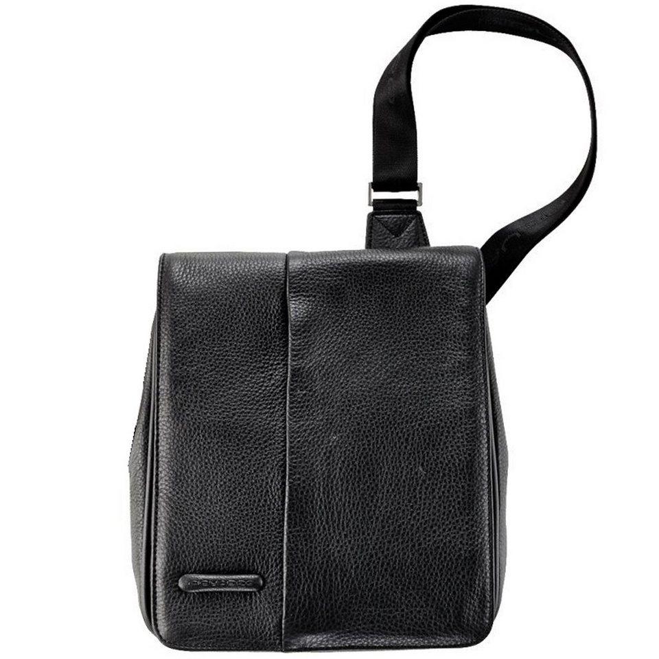 Piquadro Modus Umhängetasche Leder 27 cm in schwarz