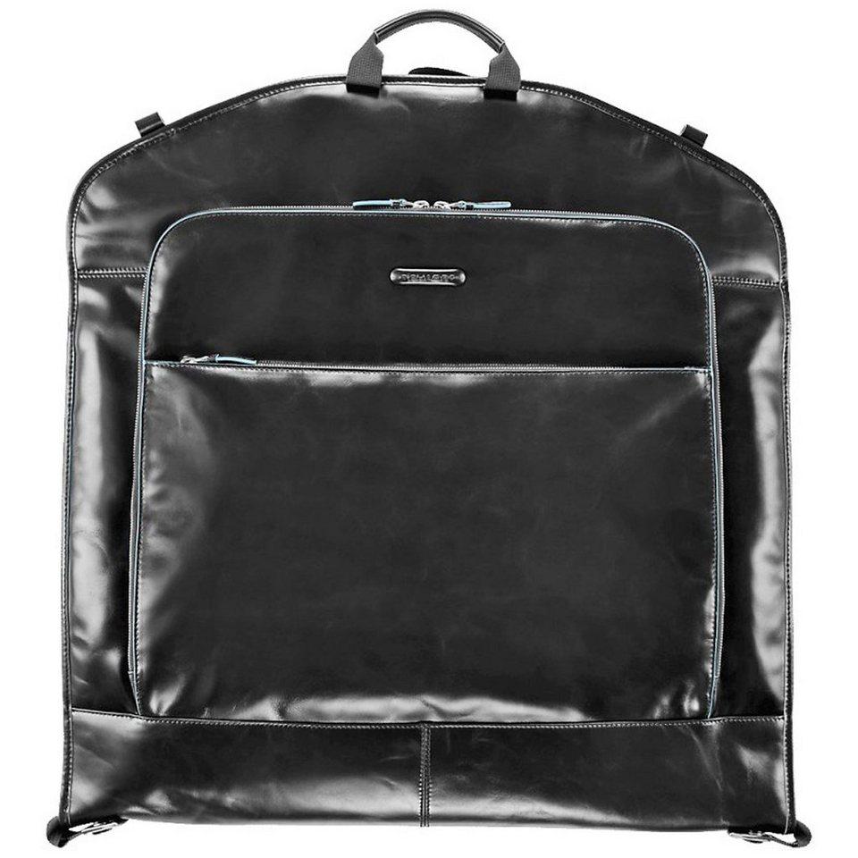 Piquadro Blue Square Kleidersack Leder 55 cm in schwarz
