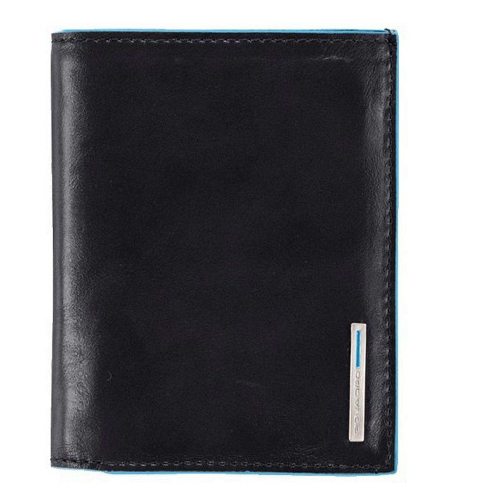 Piquadro Blue Square Geldbörse Leder 9,5 cm in schwarz
