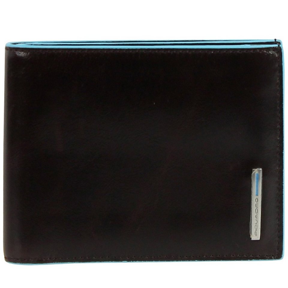 Piquadro Blue Square Geldbörse Leder 12,5 cm in schwarz