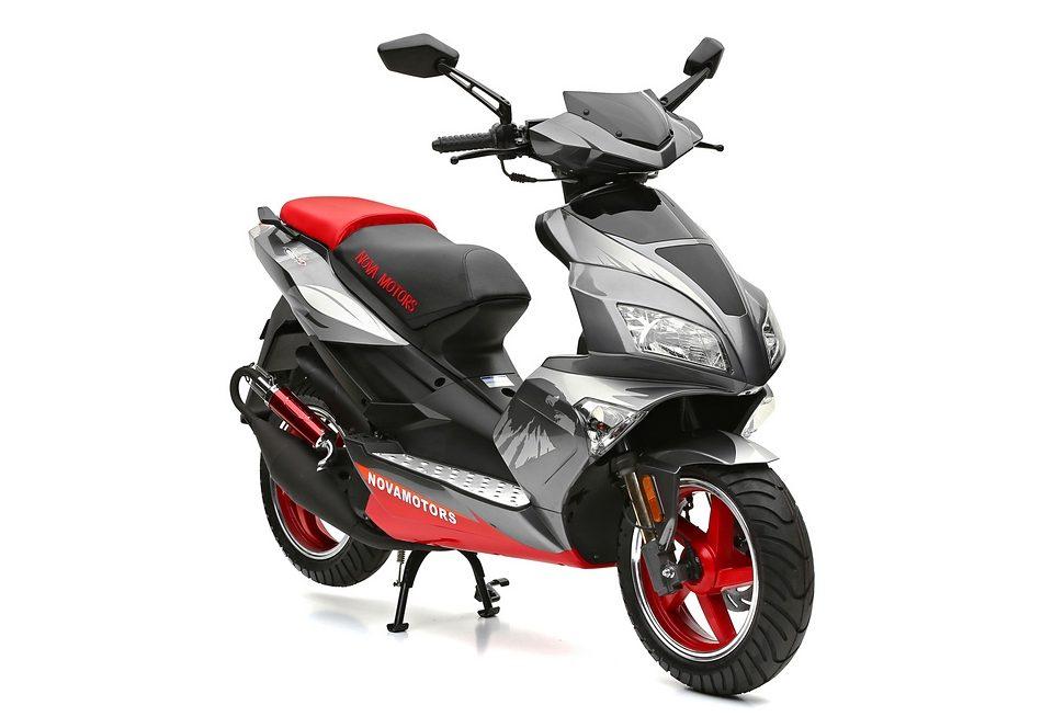Motorroller, Nova Motors, »GT3 1.0«, 50 ccm 45 km/h, rot-silberfarben