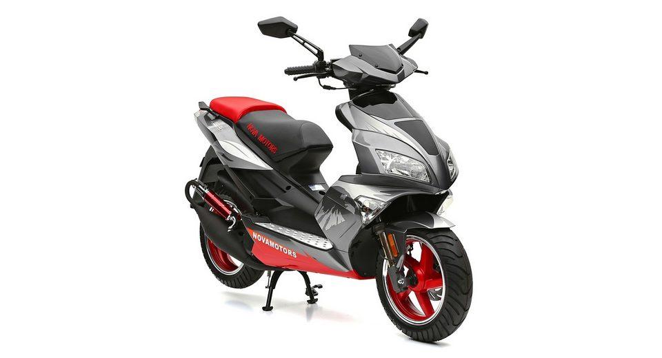 Mofarroller, Nova Motors, »GT3 1.0«, 50 ccm 25 km/h, rot-silberfarben