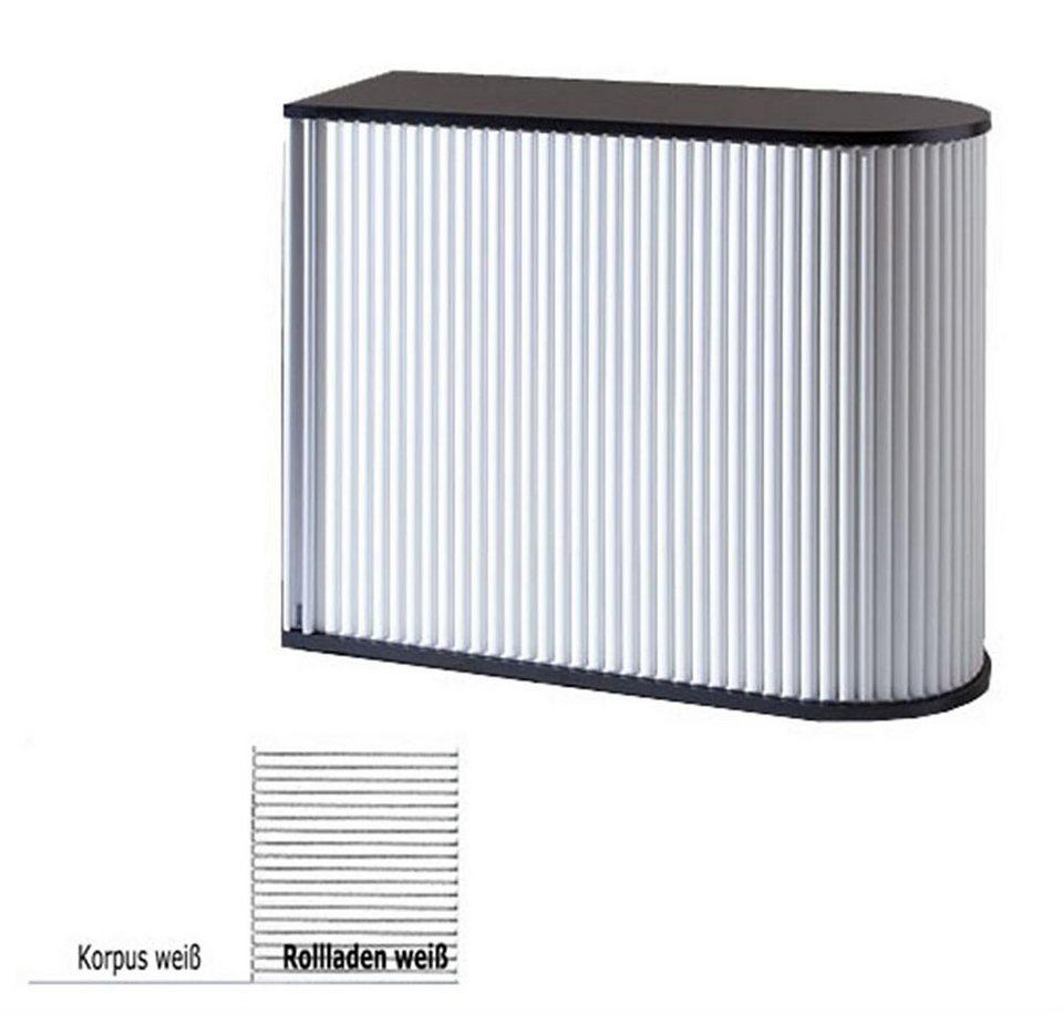 MS-Schuon Rolladenschrank Sideboard Universalschrank abschließbar »KLENK COLLECTION« in weiss / weiss