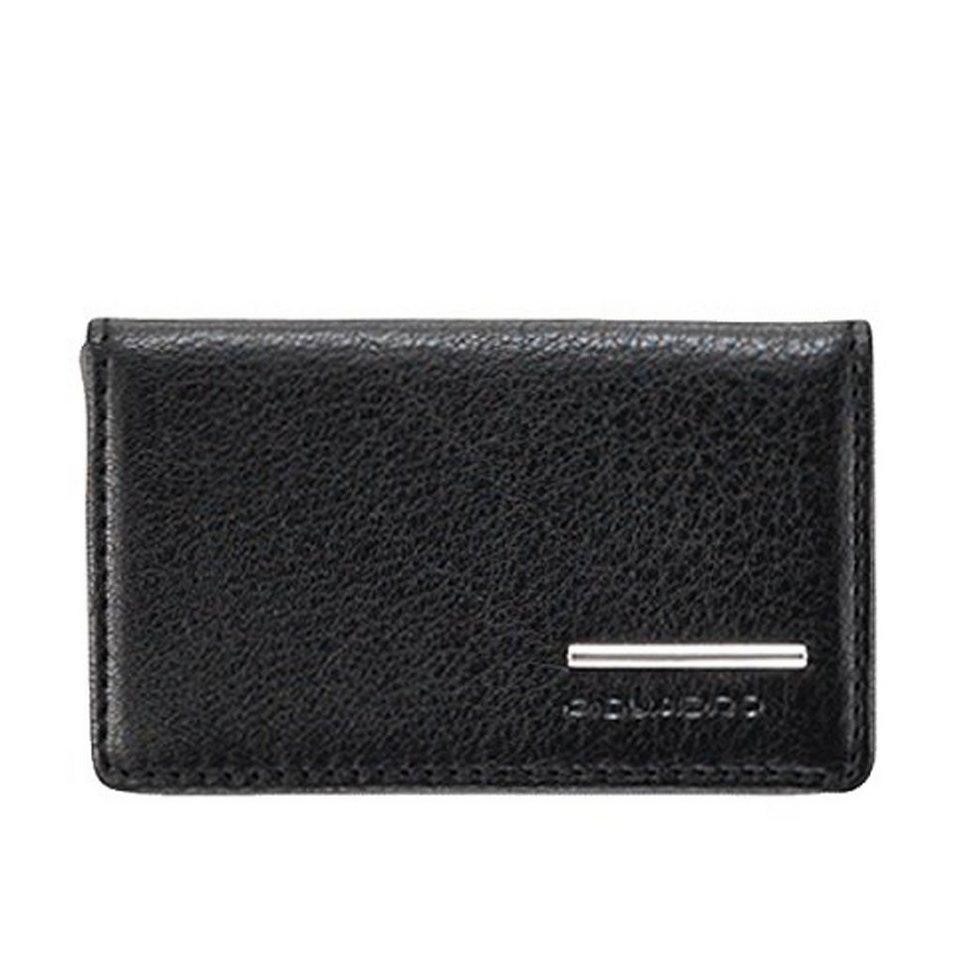 Piquadro Modus Visitenkartenetui Leder 10 cm in schwarz