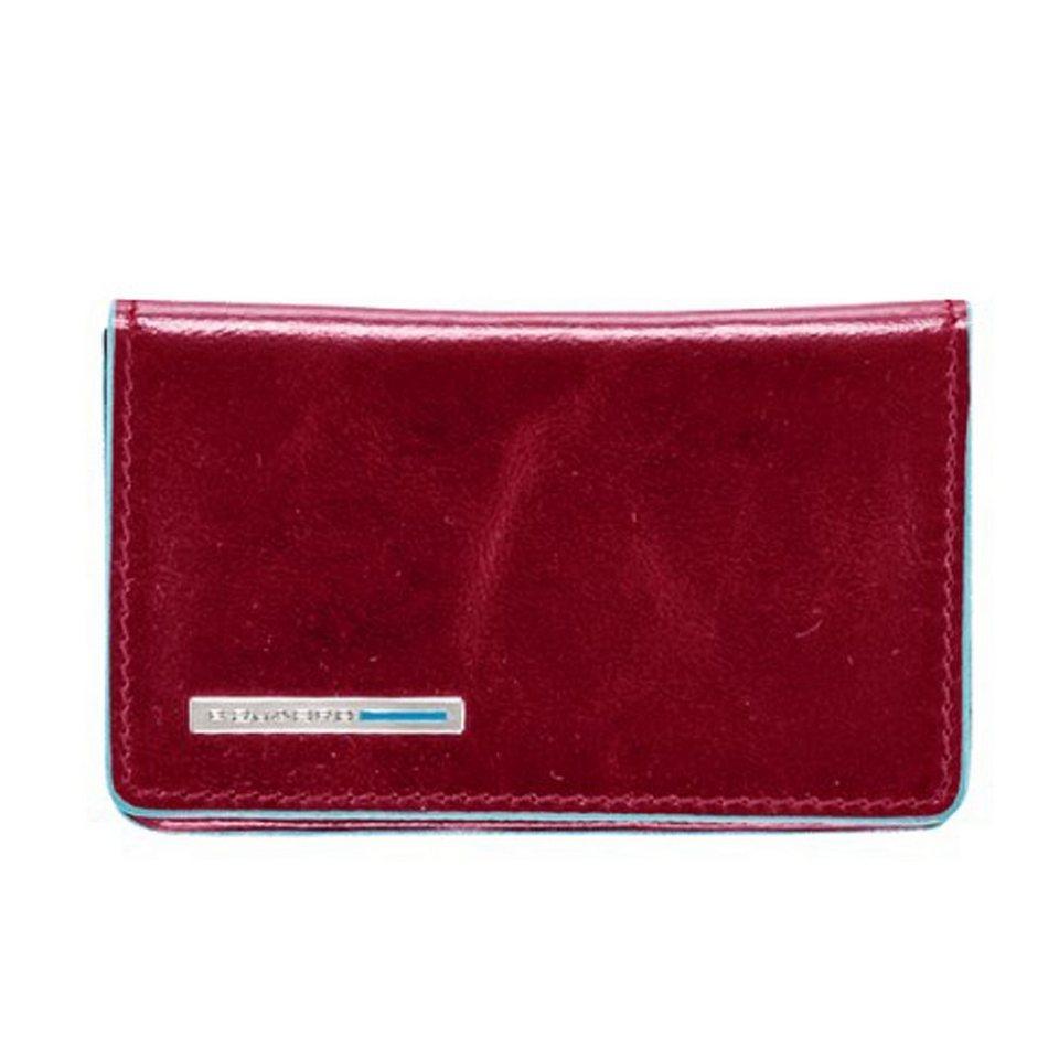 Piquadro Blue Square Visitenkartenetui Leder 10 cm in rot
