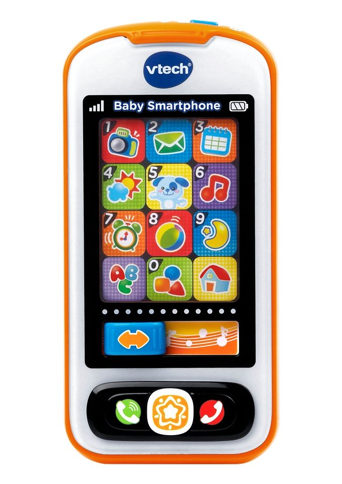 vtech baby smartphone mit fiktiven apps und 10 melodien. Black Bedroom Furniture Sets. Home Design Ideas