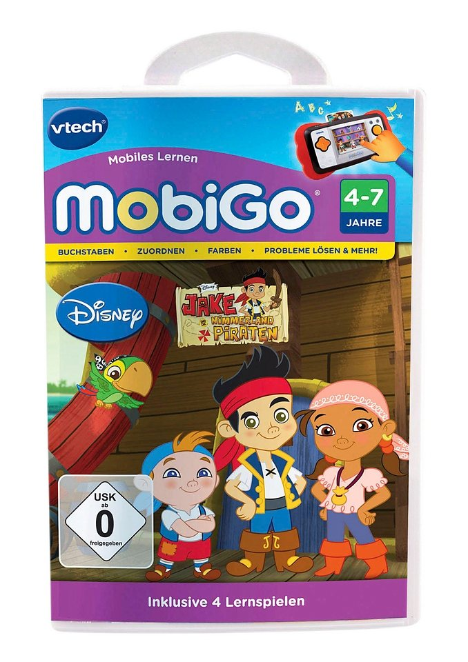 Lernspiel, VTech, »MobiGo2, Jake und die Nimmerland Piraten«