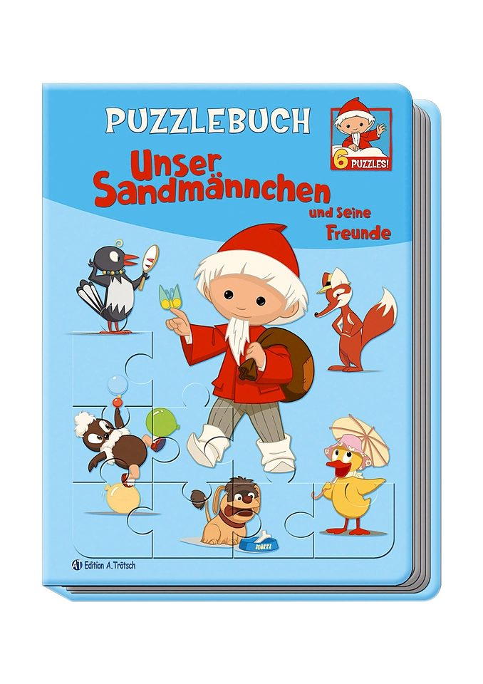 Heunec Puzzlebuch mit Plüschfigur »Sandmännchen«