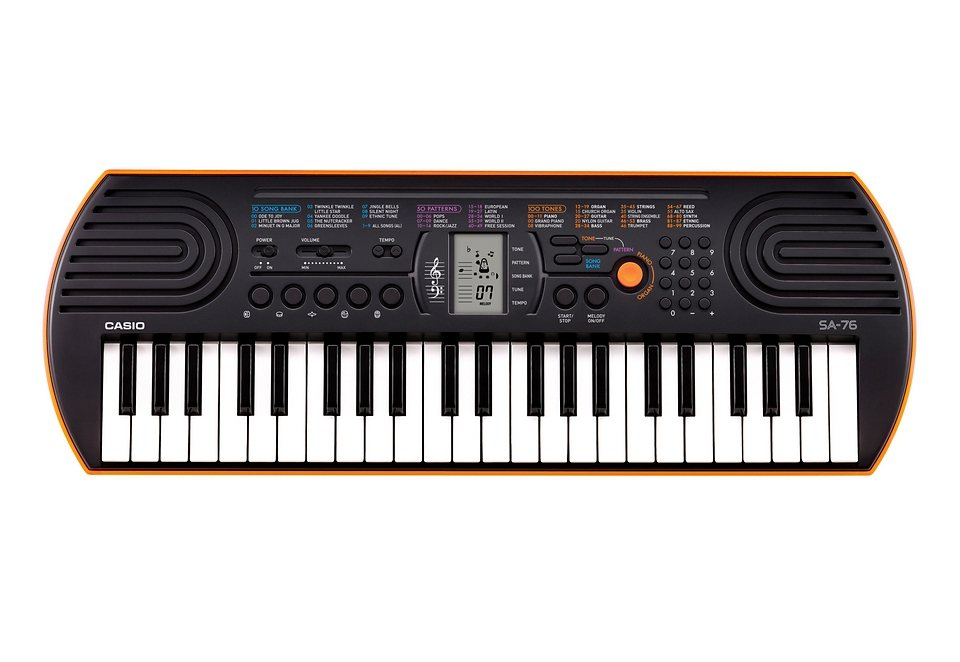 Casio® Mini Keyboard Set, »SA 76« in orange-schwarz