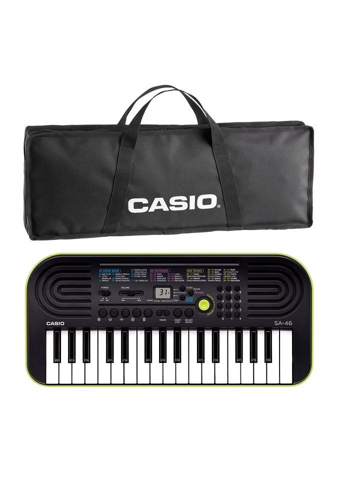 Casio® Mini Keyboard Set, »SA 46« in grün-schwarz
