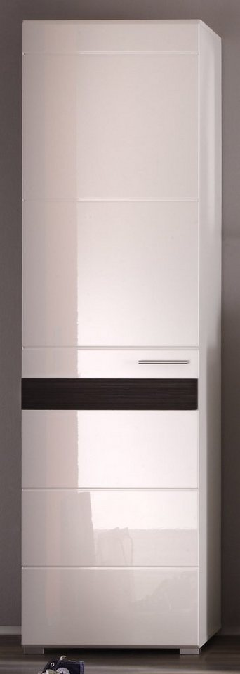 Garderobenschrank »MEZZO« in weiß-schokofarben