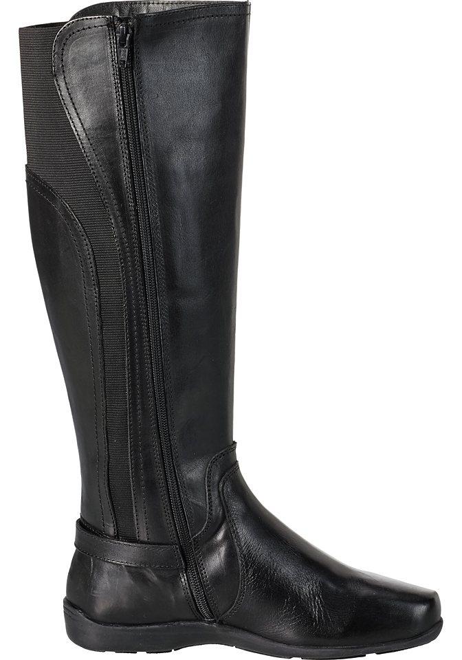 sheego XL Weitschaftstiefel mit Zierschnalle in schwarz