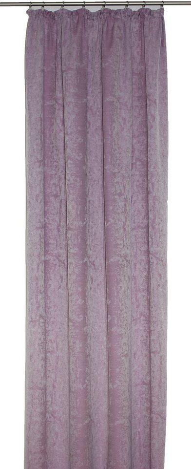 Vorhang, Wirth, »Coventry«, mit Kräuselband (1 Stück) in lila