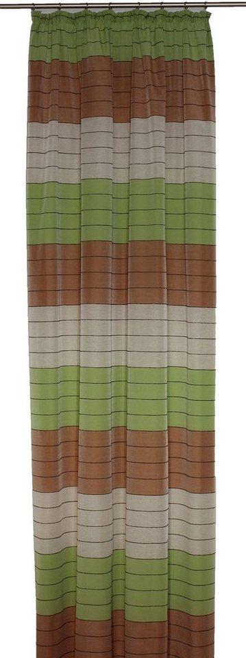 Vorhang, Wirth, »Barletta«, mit Kräuselband (1 Stück) in beige-grün-terra
