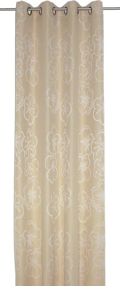 Vorhang, Wirth, »Dangard«, mit Ösen (1 Stück) in gold