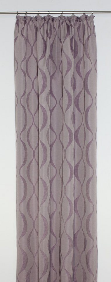 Vorhang, Wirth, »Varallo«, mit Kräuselband (1 Stück) in lila