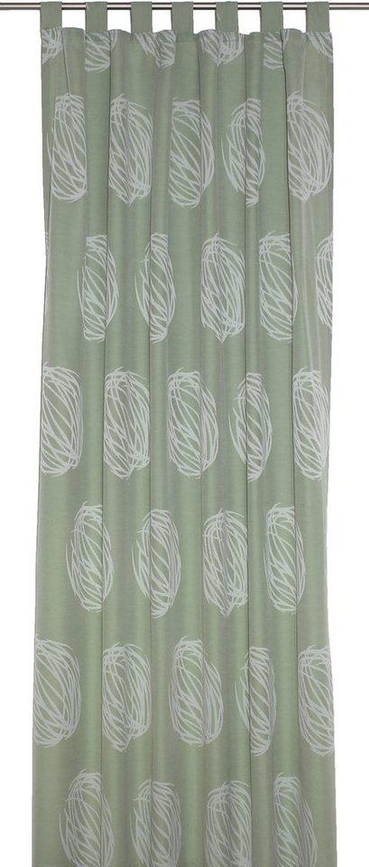 Vorhang, Wirth, »Kingston«, mit Schlaufen (1 Stück) in grün